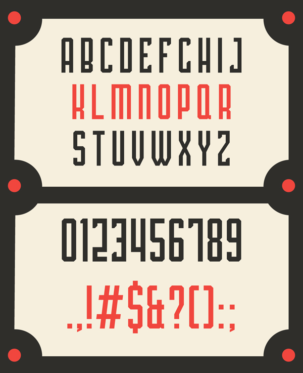 Platina Bold Condensed Font Letters