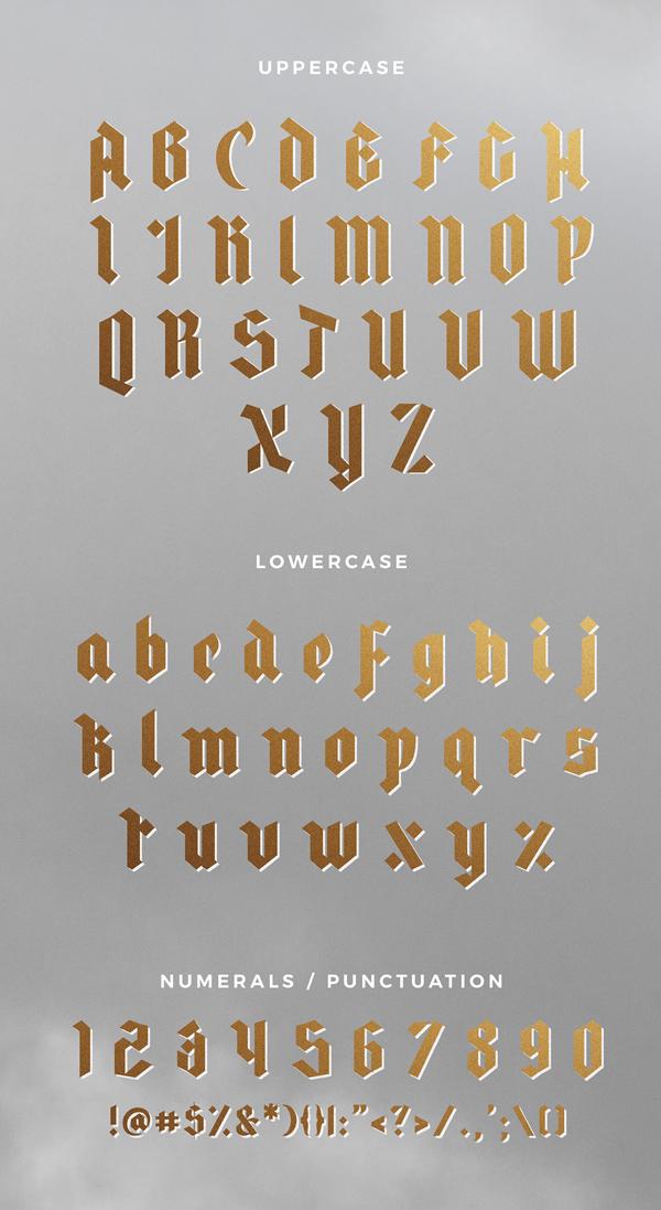 Rowan & Royal Font Letters