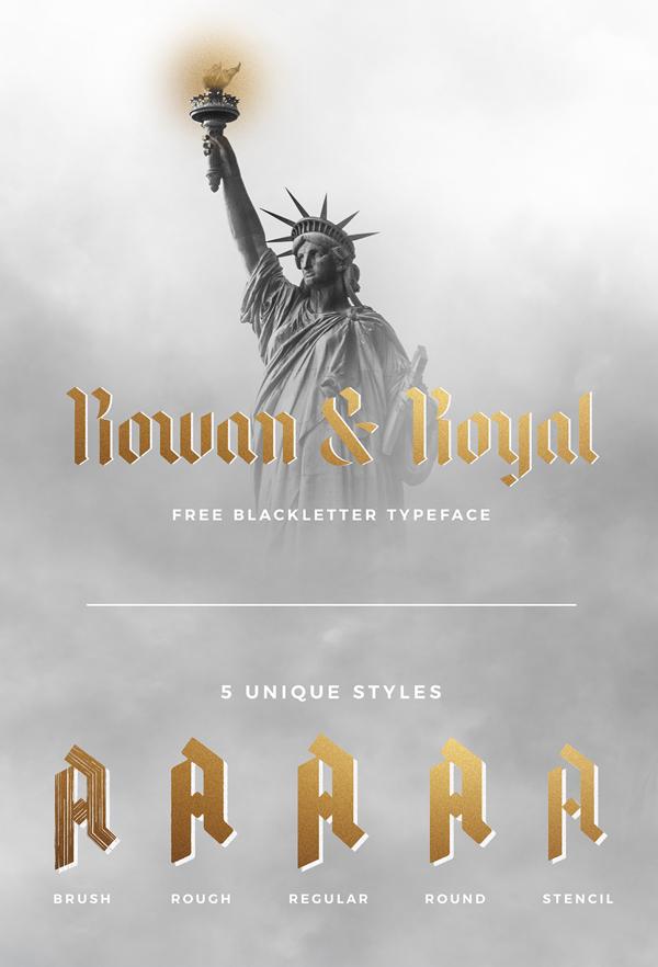 Rowan & Royal Free Font