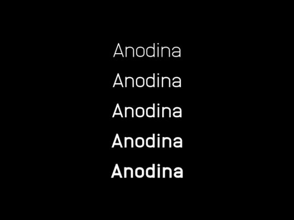 Anodina: A free sans-serif font family