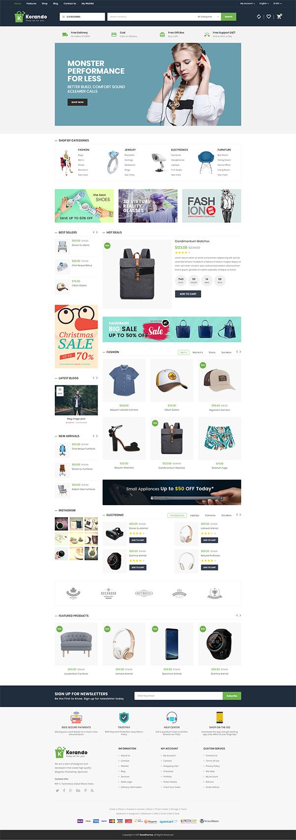 Korando – Multipurpose Theme for WooCommerce WordPress