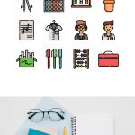 "Fresh Free ""Back to School"" Icons For Designers (3 versions available)"