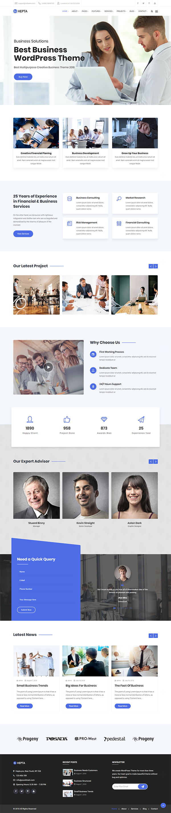Hepta – Multipurpose Business WordPress Theme