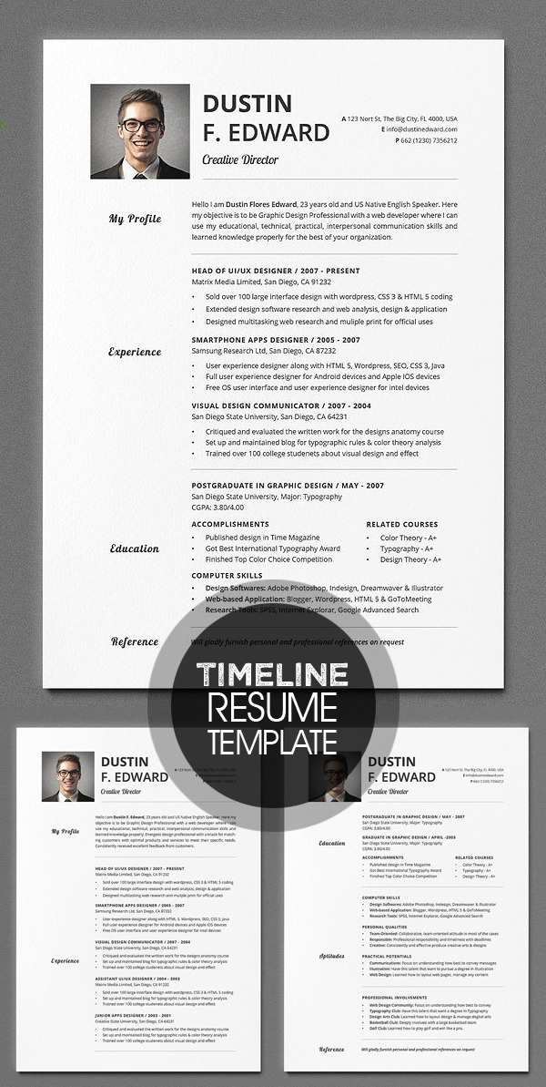 Timeless Resume CV Set