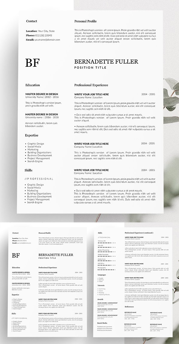 Resume CV Design CV Template
