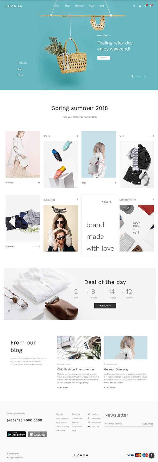 Lezada – Minimal & Creative WooCommerce WordPress Theme