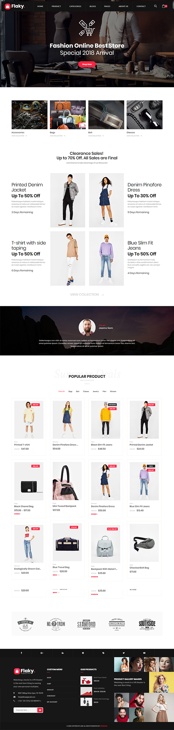 Flaky – A Responsive WooCommerce Theme for Online Shopping Websites