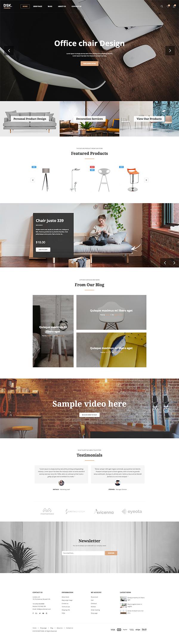 DSK – Furniture Store WooCommerce WordPress Theme