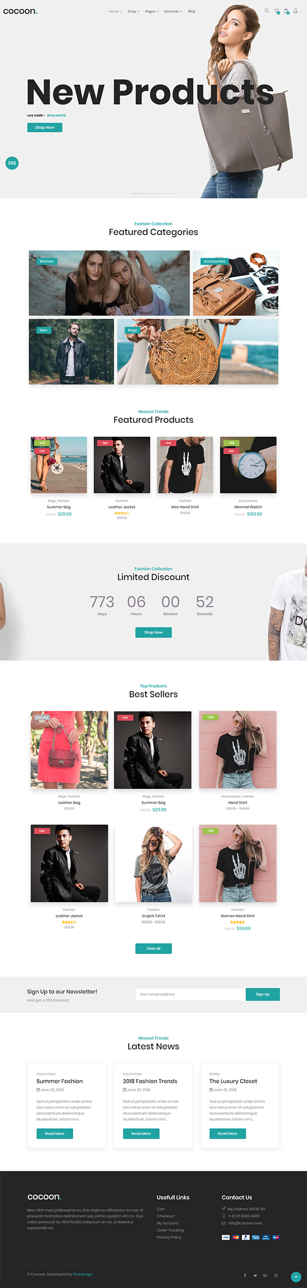 Cocoon – Modern WooCommerce WordPress Theme