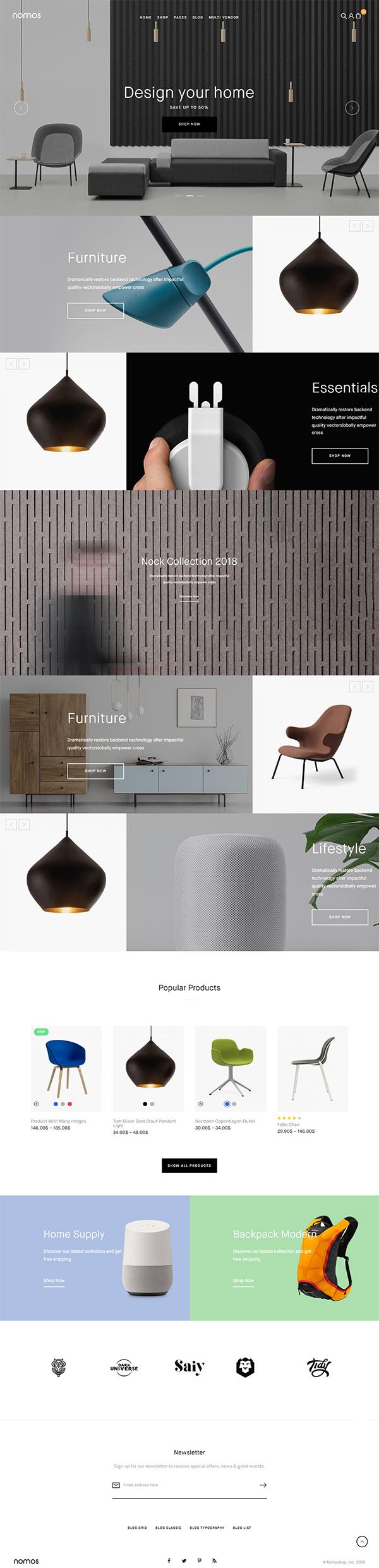 Nomos – Modern AJAX Shop Designed For Mobile And SEO Friendly