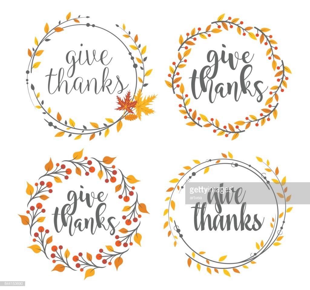 Thanksgiving greeting badges