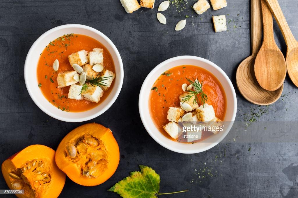Butternut squash cream soup