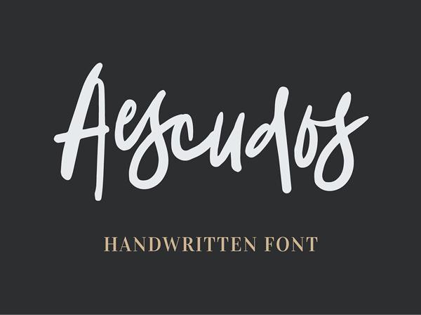 Aescudos Handwritten Free Font