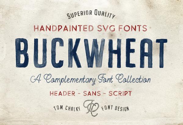 Buckwheat SVG Free Font