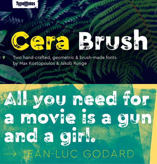 Cera Brush Free Font