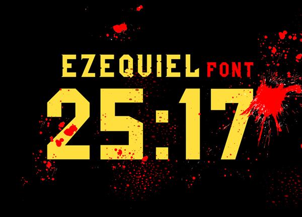 Ezequiel 25:17Free Font