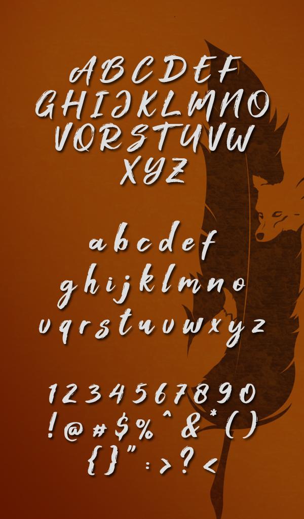 Foxlite Script fonts and letters