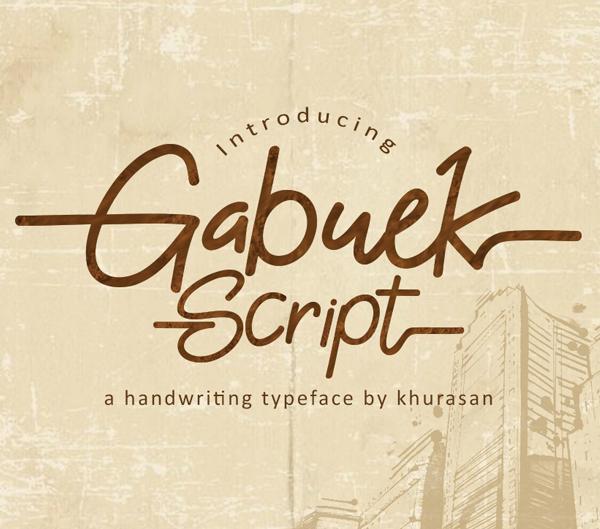 Gabuek Script free fonts