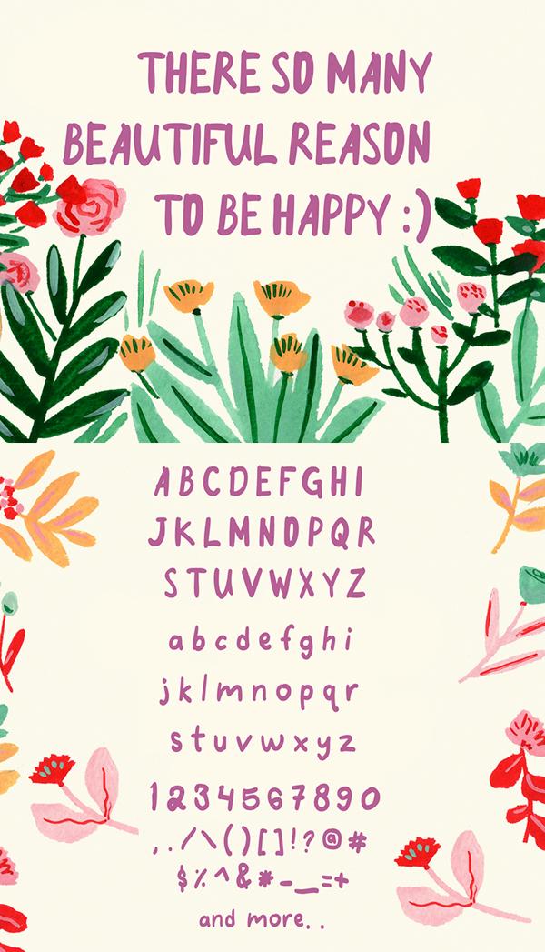 Good Morning Purple Font Letters