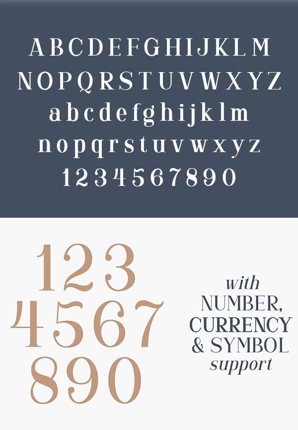 Gorgone Serif Font Letters