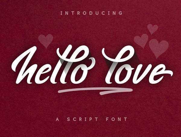 Hello Love Brush  Free Font