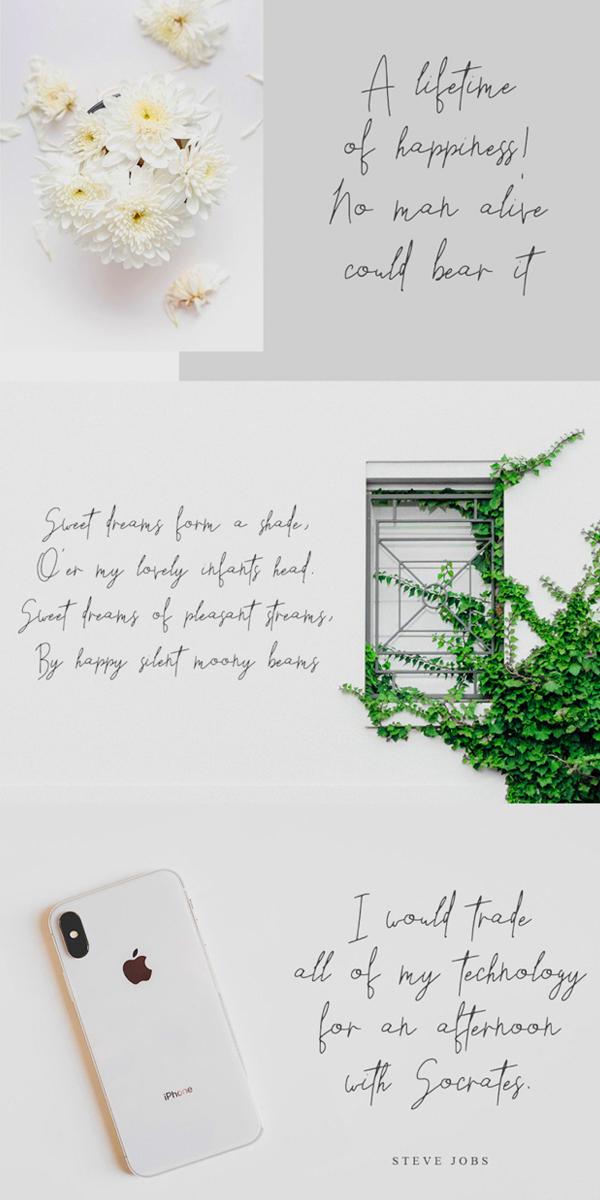 Horizon Handletters Script Font Letters