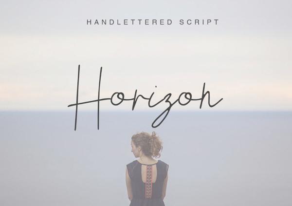 Horizon Handletters Script Free Font