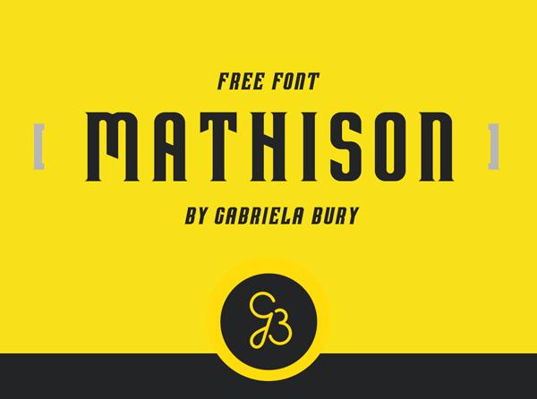 Mathison free fonts