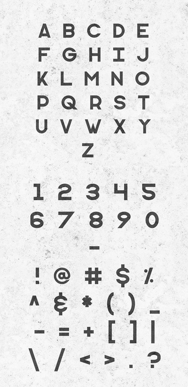 Monometric Font Letters