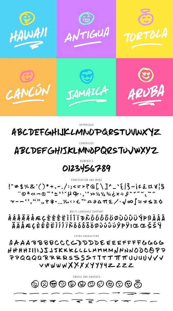 Moonshot Font Letters