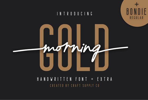 Morning Gold Handwritten free fonts