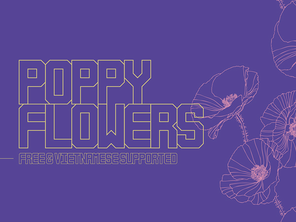 Poppy Flowers Free Font