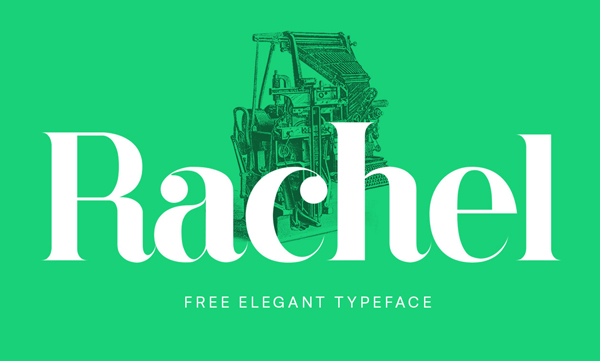 Rachel free fonts