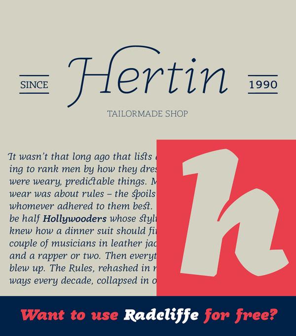 Radcliffe Font Letters
