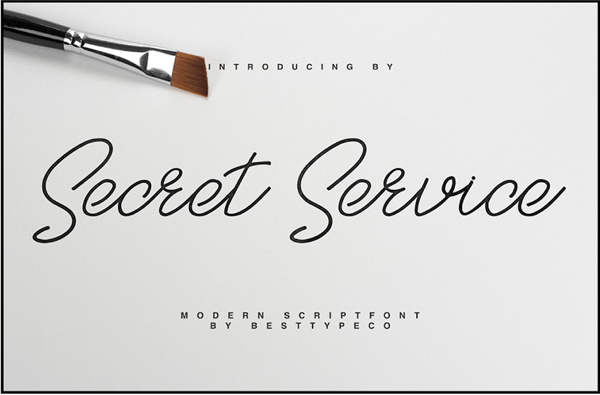 SecretService Free Font