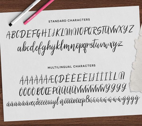 Silhouetto Script Font Letters