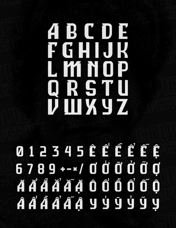 Soviet fonts and letters