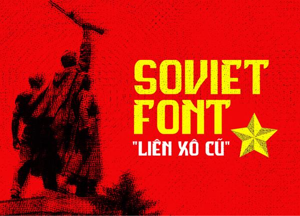 Soviet free fonts