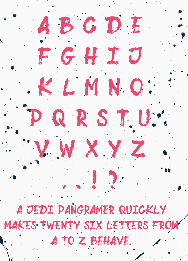 Sumi fonts and letters
