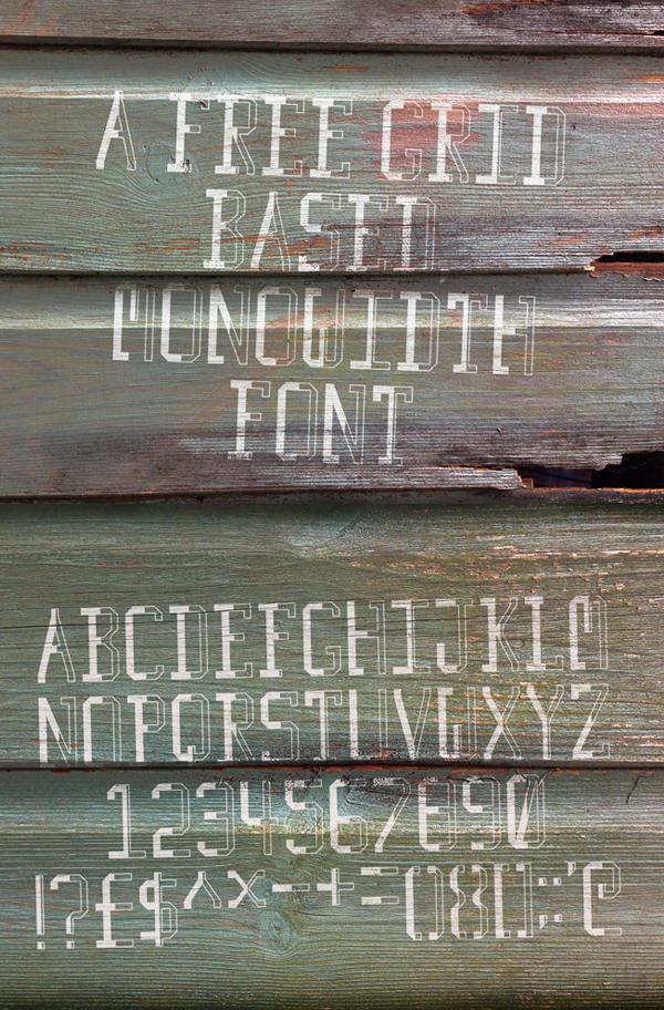 Traveler's Typeface Font Letters