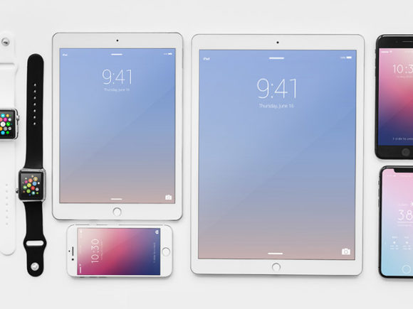 Apple devices mockups, free PSD