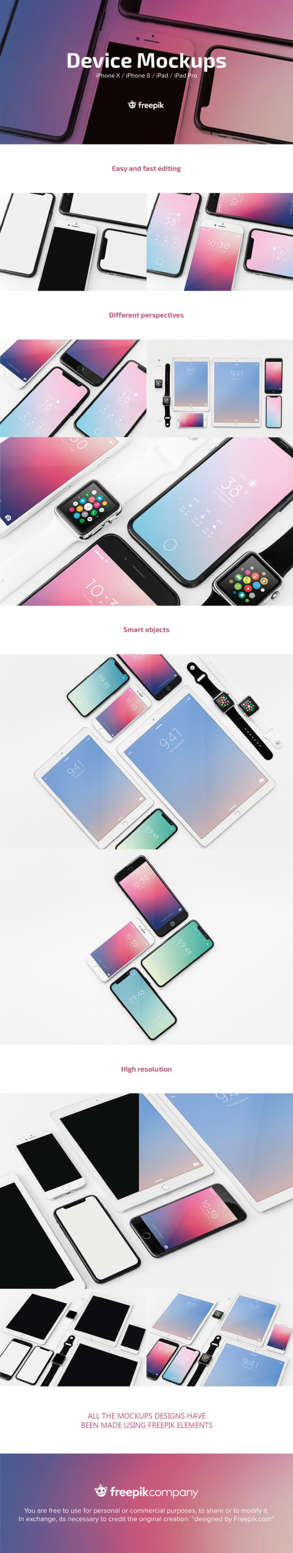 Apple device mockups pack preview