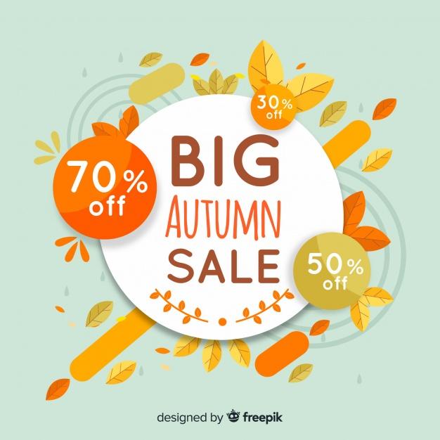 autumn design elements sales background