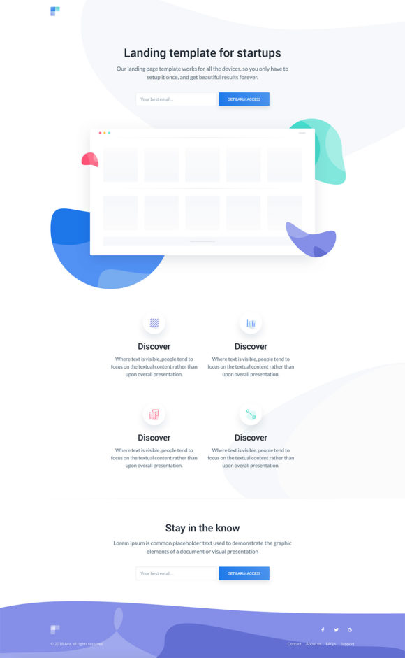 Ava HTML template preview