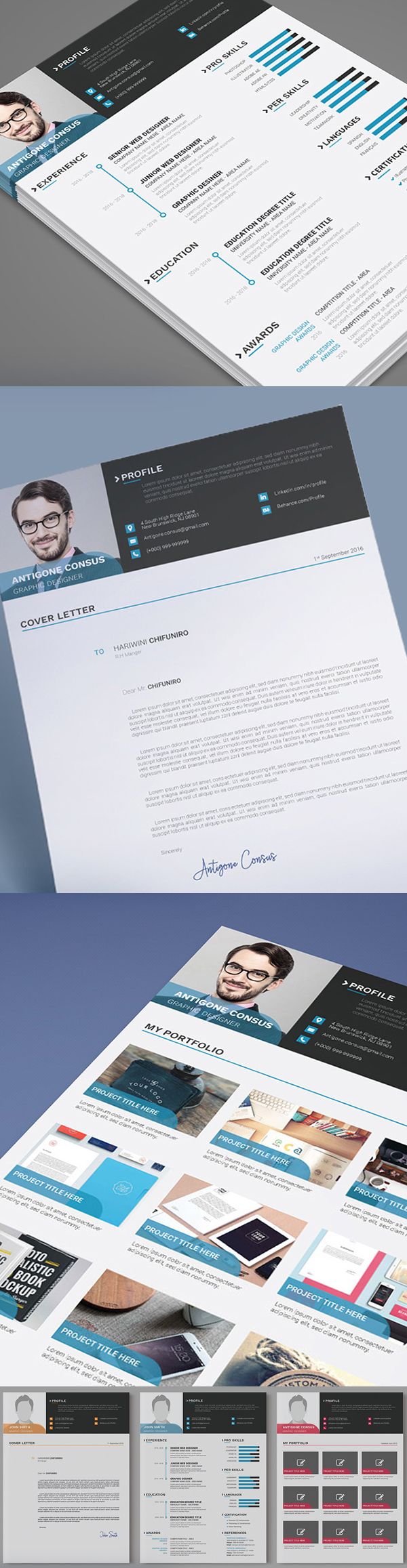 25 Fresh Free Professional Resume Templates - 1