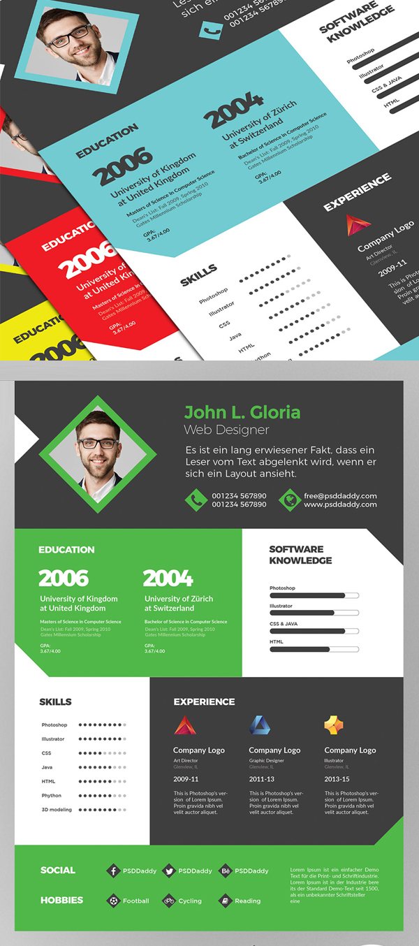 25 Fresh Free Professional Resume Templates - 10