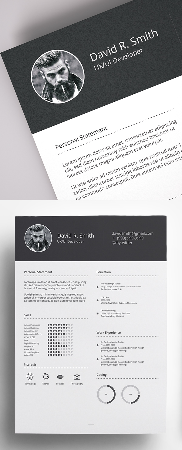 25 Fresh Free Professional Resume Templates - 15