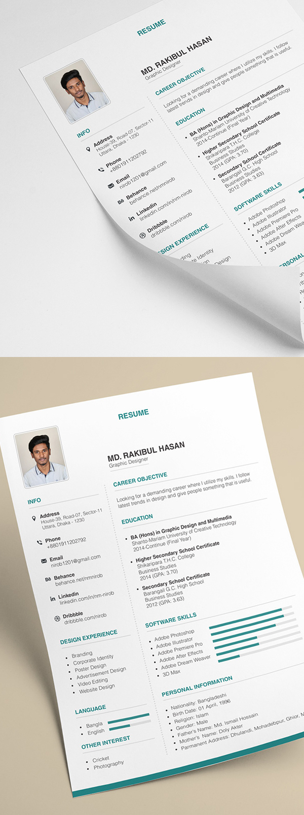 25 Fresh Free Professional Resume Templates - 17
