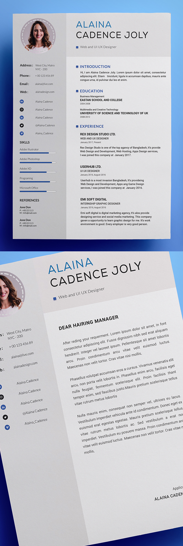 25 Fresh Free Professional Resume Templates - 24