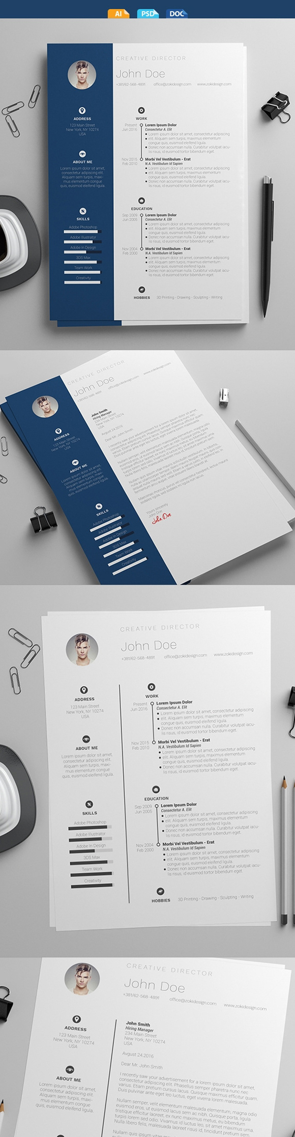 25 Fresh Free Professional Resume Templates - 5